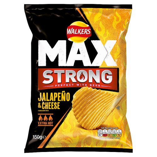 Walkers Max Strong Sharing Bag Jalapeno & Cheese Crisps