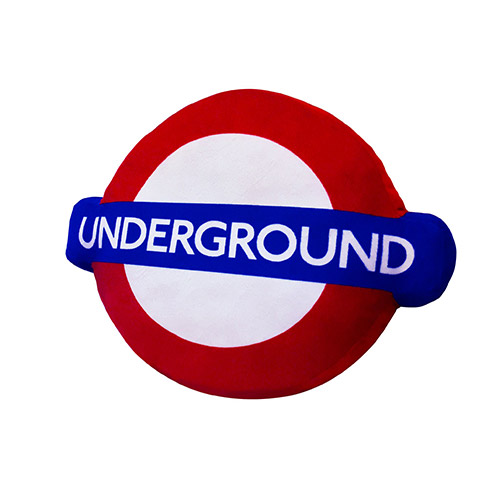 Image of London Underground Logo Cushion