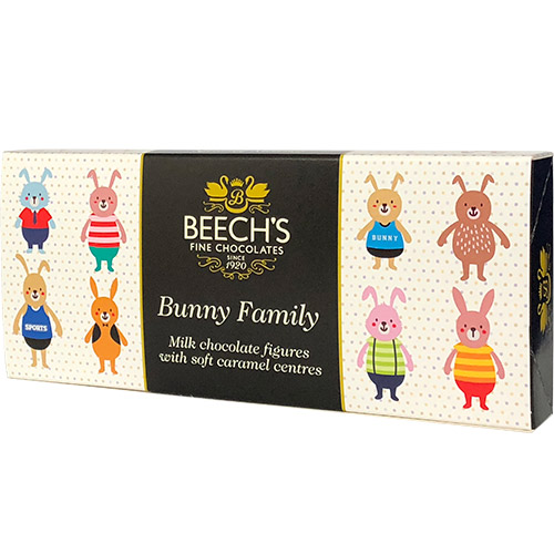 Beechs Bunny Family Figures with Soft Caramel Centre