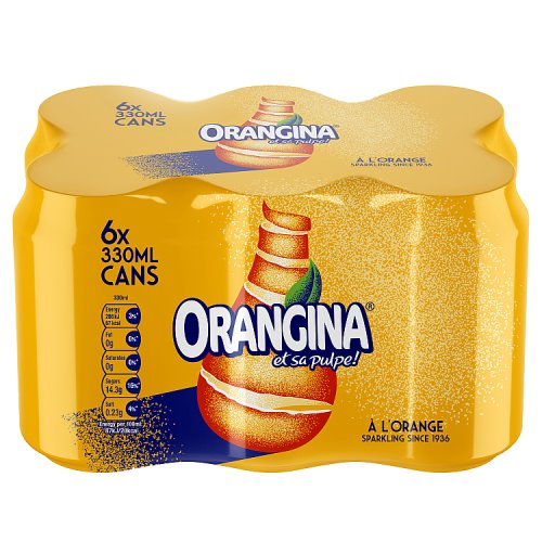 Orangina Can 6 Pack