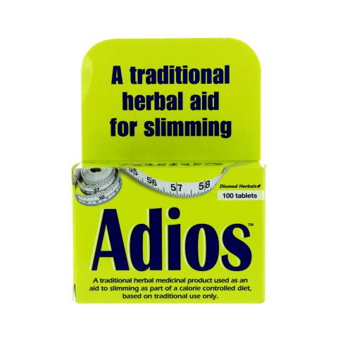 Adios Original Weight Loss 100 Tablets