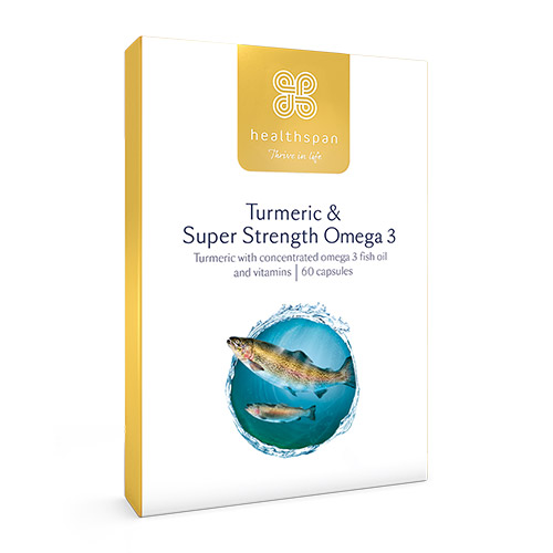 Healthspan Turmeric and Super Strength Omega 3 60 Capsules