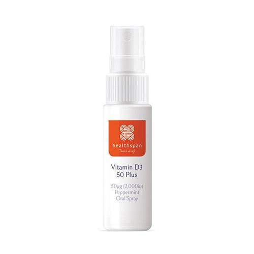 Healthspan Vitamin D3 50 Plus Peppermint Oral Spray 100 Sprays