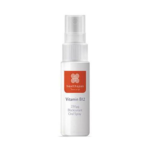 Healthspan Vitamin B12 Spray - 1000 microgram Blackcurrant NEW