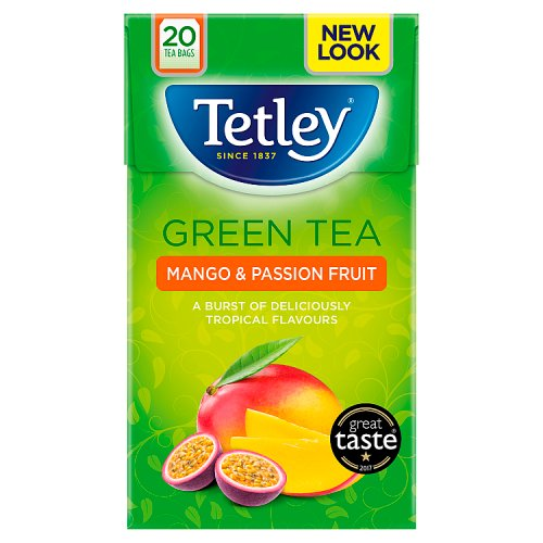 Tetley Green Tea with Mango & Passionfruit 20s