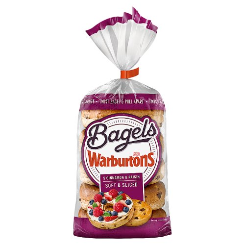 Warburtons 5 Cinnamon and Raisin Bagels
