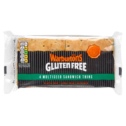 Warburtons Gluten Free 4 Multiseed Sandwich Thins