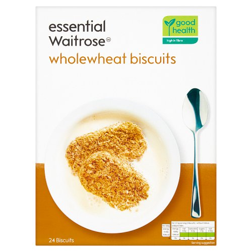 essential Waitrose Wholewheat 24 Biscuits