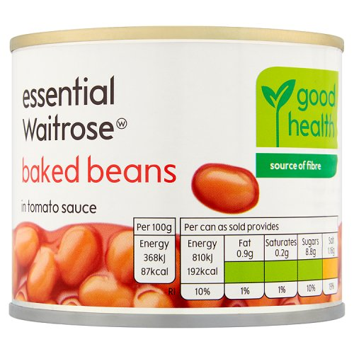 essential Waitrose Baked Beans in Tomato Sauce Small Tin