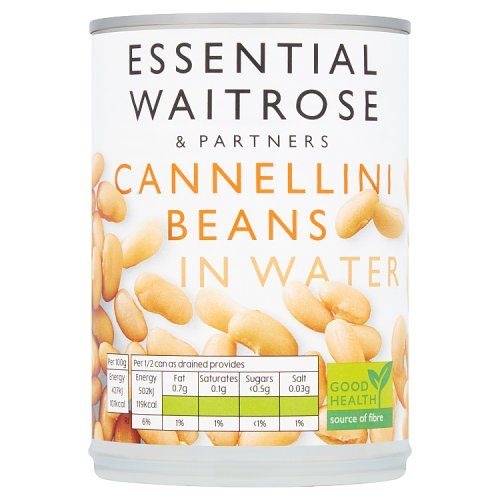essential Waitrose Cannellini Beans in Water (400g). Product Information