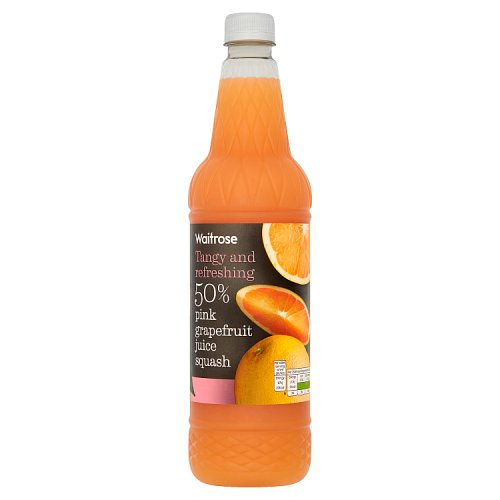 Waitrose Squash 50% Pink Grapefruit Juice
