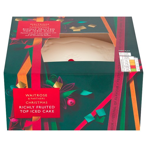 Waitrose Top Iced Christmas Cake