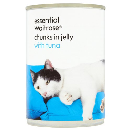 essential Waitrose Cat Food Tuna Chunks in Jelly