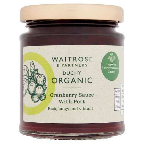 Waitrose Duchy Organic Cranberry Sauce with Port