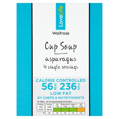 Waitrose LOVE life Cup Soup Asparagus 4 Pack