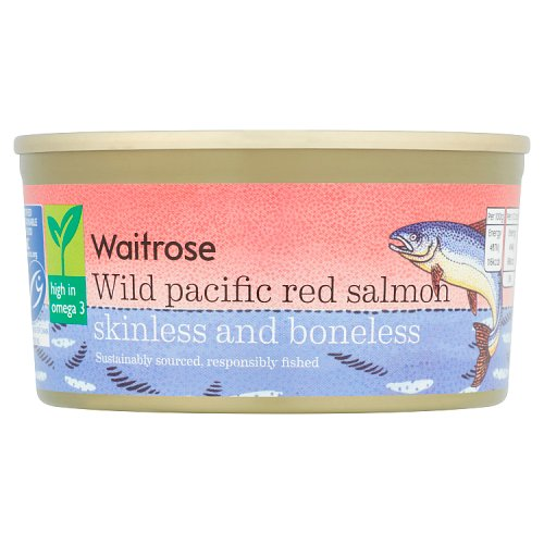 essential Waitrose Wild Red Salmon Skinless and Boneless