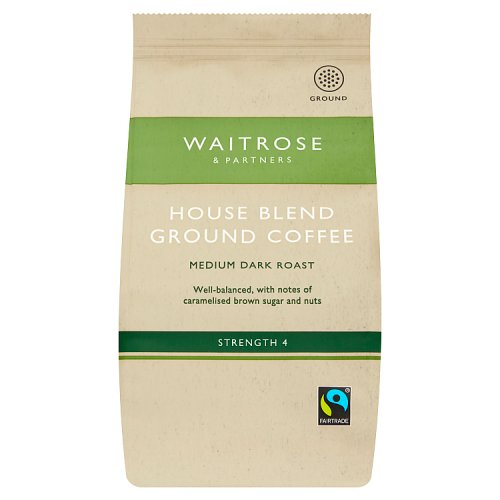 Waitrose Ground Coffee Fairtrade Cafe Blend