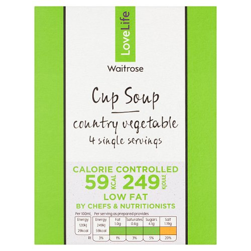 Waitrose LOVE life Cup Soup Country Vegetables 4 Pack