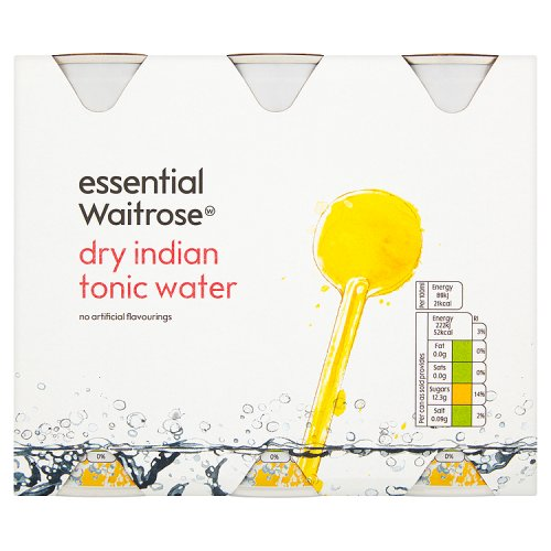 essential Waitrose Indian Tonic Water 6 Pack