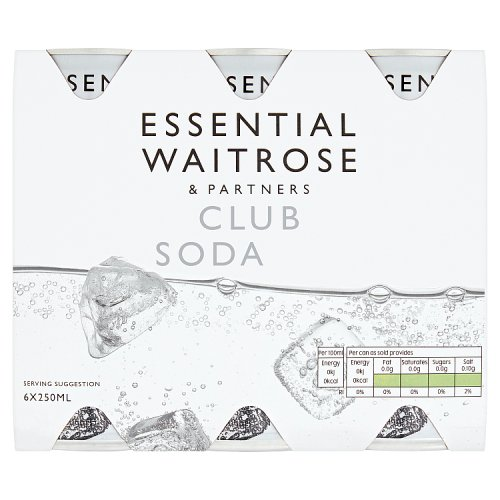 essential Waitrose Club Soda 6 Pack