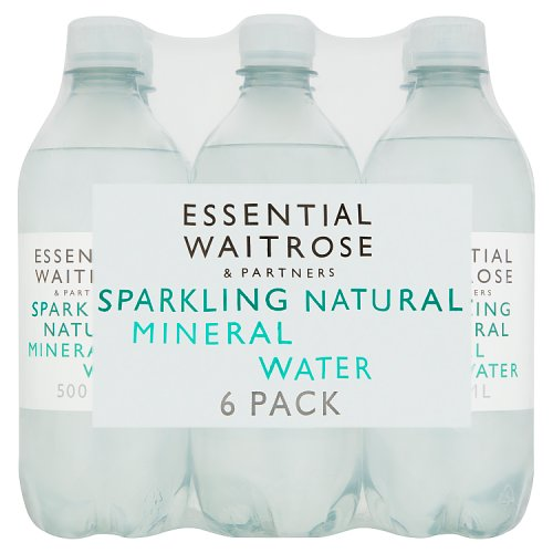 essential Waitrose Natural Mineral Water Sparkling 6 Pack