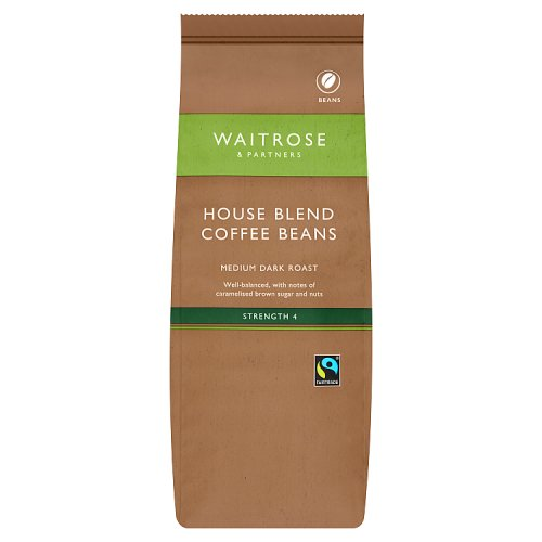 waitrose cafe fairtrade house blend coffee beans. Black Bedroom Furniture Sets. Home Design Ideas