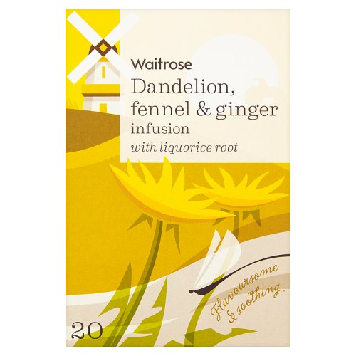 Waitrose LOVE life Dandelion Fennel & Ginger Infusion Tea 20 Pack