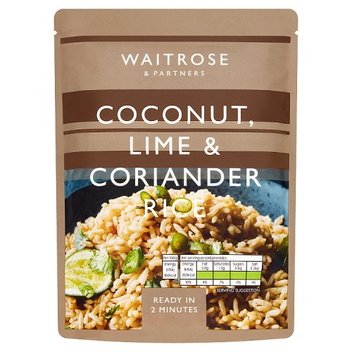 Waitrose & Partners Coconut Lime & Coriander Rice
