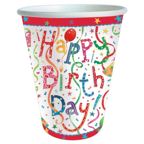 Waitrose Home Happy Birthday Paper Cups 8 Pack