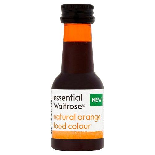 essential Waitrose Natural Orange Food Colouring