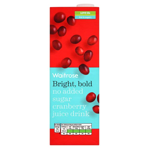 73973439f680 Waitrose No Added Sugar Cranberry Juice (1000g)