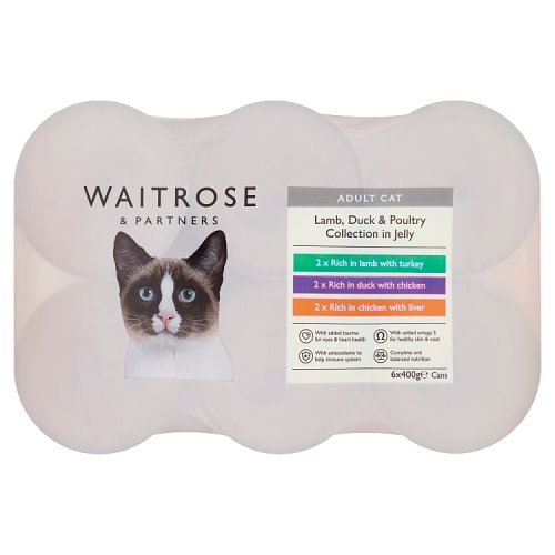 Waitrose Cat Food Meat Selection in Jelly 6 Pack