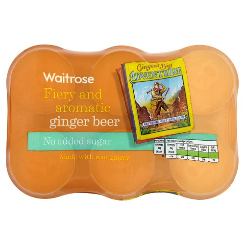 Waitrose Fiery Ginger Beer Low Calorie 6 Pack