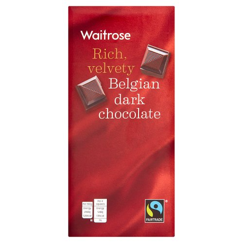 Waitrose Belgian Dark Chocolate