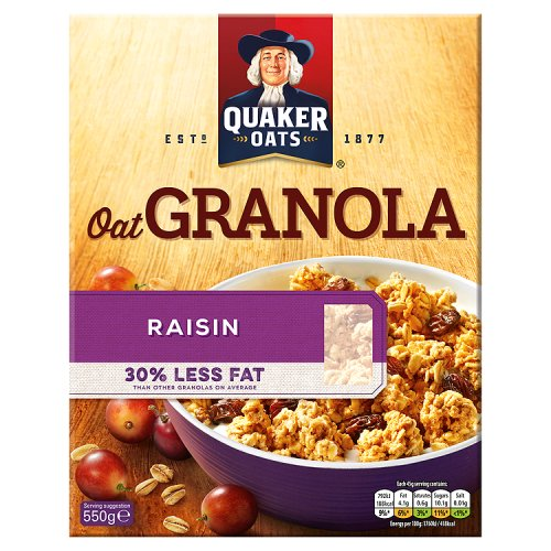 Quaker Oat Granola Raisin Granola Clusters