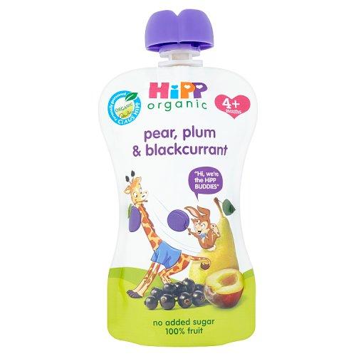 Hipp 4 Month Organic Plum Pear & Blackcurrant Pouch