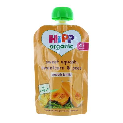 Hipp 4 Month Organic Sweet Squash  Sweetcorn & Peas Pouch