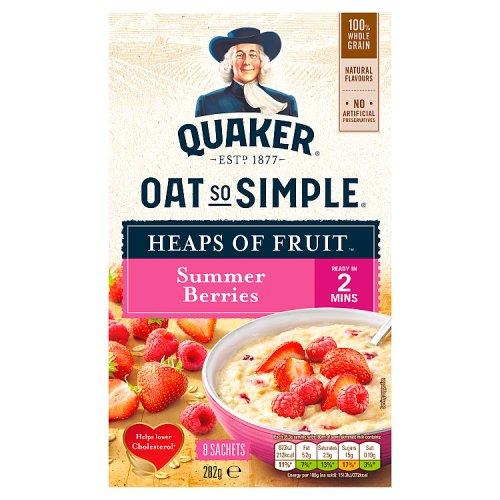Quaker Oat So Simple Heaps Of Fruit Summer Berries 8 Pack