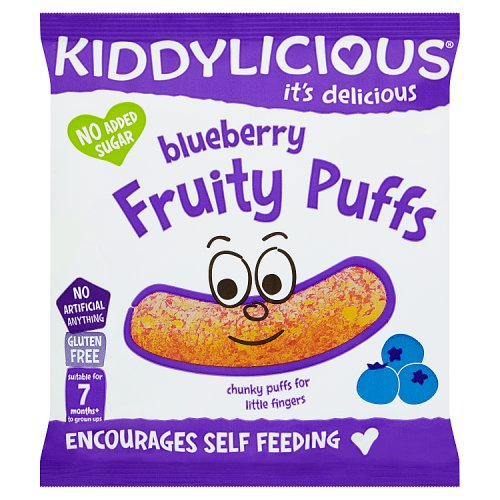 Kiddylicious 12 Month Fruity Puffs Blueberry