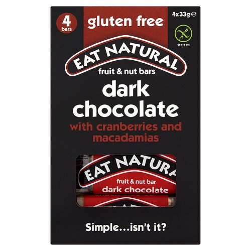 Eat Natural Gluten Free Cranberries & Macadamias with Dark Chocolate 4 Pack