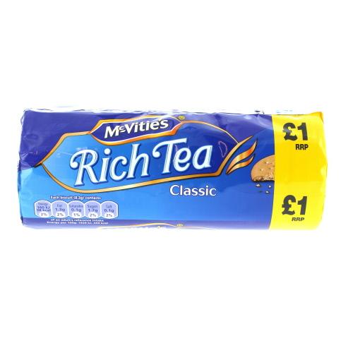 Mcvities Rich Tea Price Marked