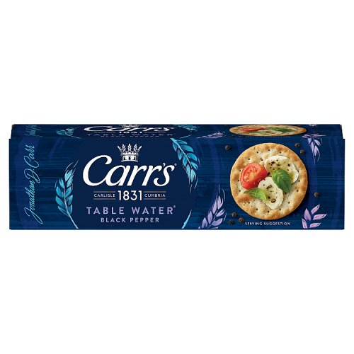 Carrs Table Water Biscuits Cracked Black Pepper