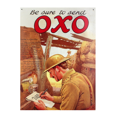 Oxo Large Tin Sign