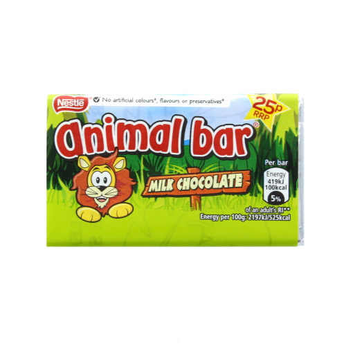 Nestle Animal Bar Milk Chocolate