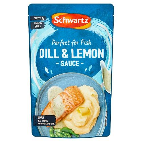 Schwartz fish dill lemon sauce for Lemon cream sauce for fish