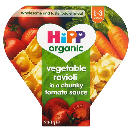 Hipp 12 Month Organic Vegetable Ravioli in Chunky Tomato Sauce Tray