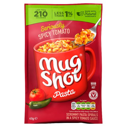 Mug Shot Spicy Tomato Pasta