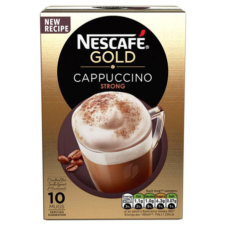 Nescafe Cafe Menu Cappuccino Strong 10 Pack