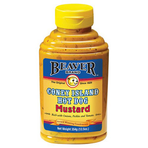 Beaver Brand Coney Island Hot Dog Mustard