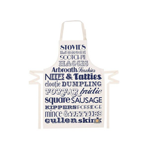 Victoria Eggs Scottish Dinner Apron Navy